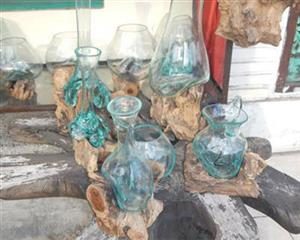 Blowing Glass and Wood