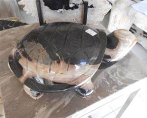 Petrified Wood Turtle Statue
