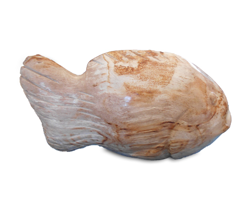 Petrified Wood Fish Statue#F56