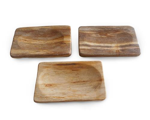 Brown Petrified Wood Soap Dish#SH02