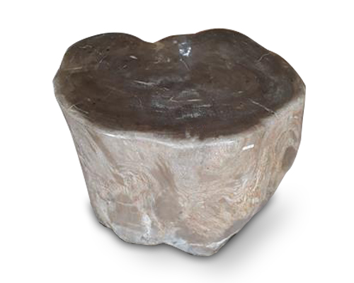 Petrified Wood Round Stool Full Polish#SRFP107