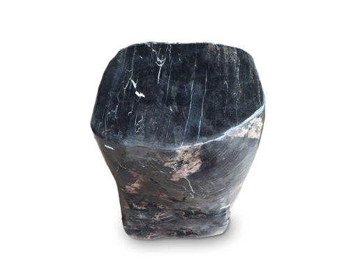 Petrified Wood Round Stool Full Polish#SRFP114