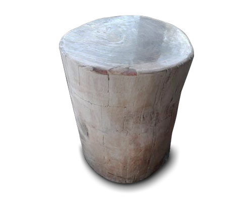 Petrified Wood Round Stool Full Polish#SRFP125