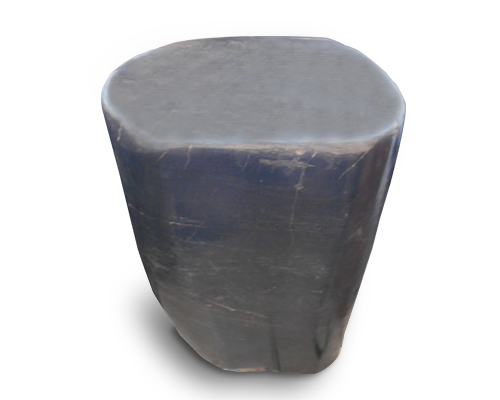 Petrified Wood Round Stool Full Polish#SRFP147