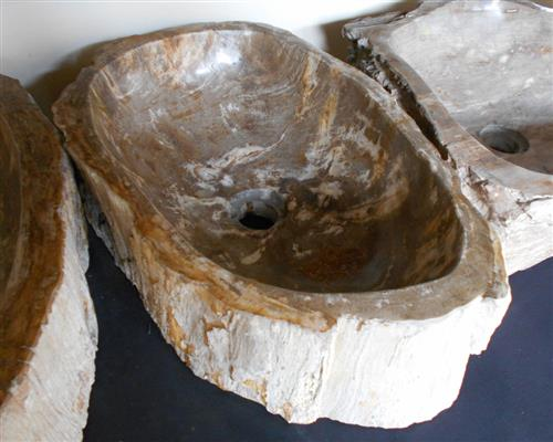 Petrified Wood Sink Large#WL002
