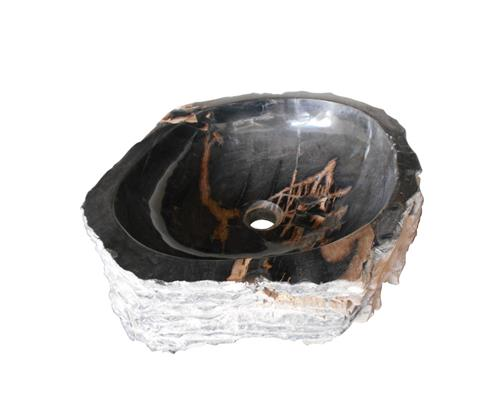 Petrified Wood Sink Medium#WSTF07