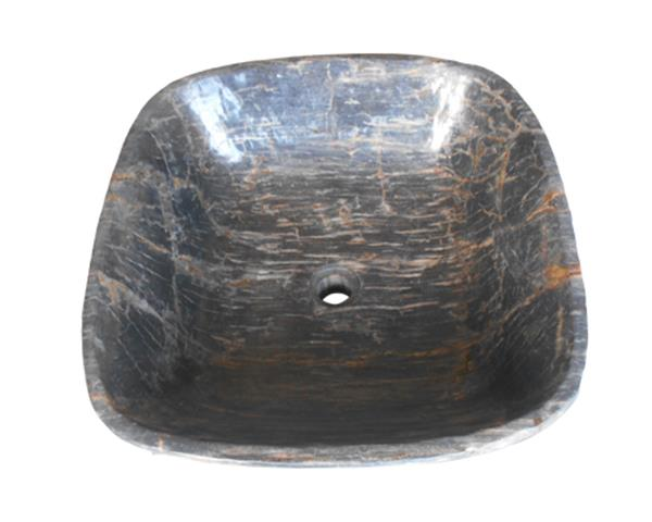 Black Petrified Wood Sink#WSTF24