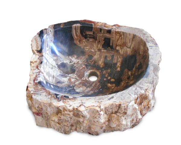 Petrified Wood Sink Medium#WSTF29