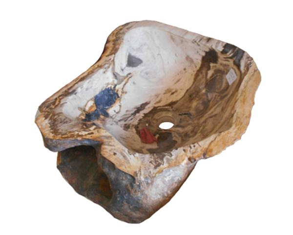 Petrified Wood Sink Medium#WSTF30