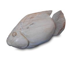 Petrified Wood Fish Statue#F47