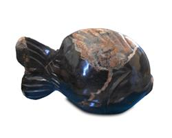 Petrified Wood Fish Statue#F51