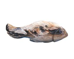 Petrified Wood Fish Statue#F63