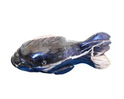 Petrified Wood Fish Statue#F67