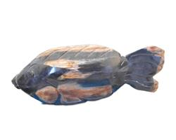 Petrified Wood Fish Statue#F71