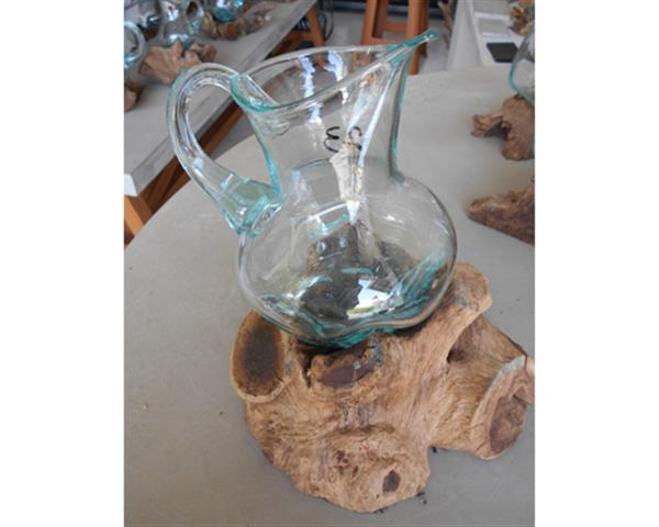 Blowing Glass Pitcher and Wood#G16