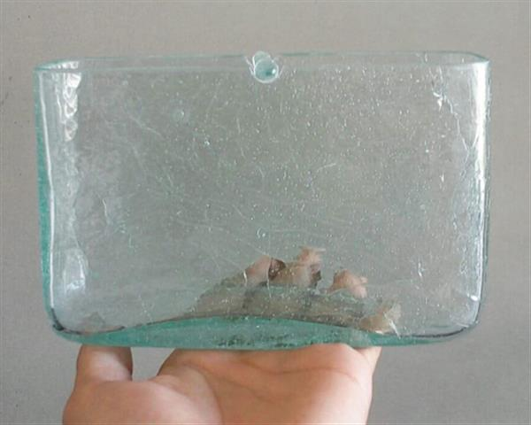 Square Glass Mosquito Coil Holder#G24