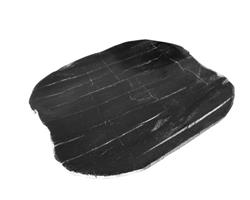 Medium Black Petrified Wood Plate#PLT186