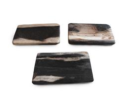 Petrified Wood Soap Dish Mixed Color#SH03