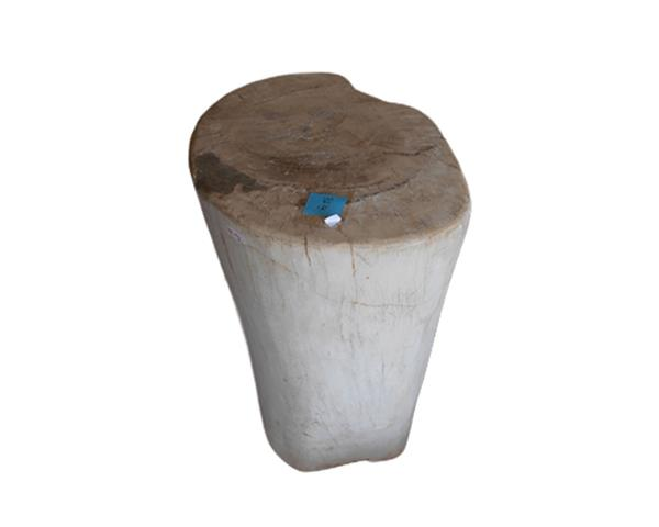 Petrified Wood Round Stool Full Polish#SRFP186