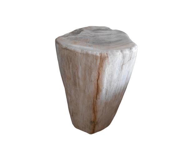 Petrified Wood Round Stool Full Polish#SRFP187