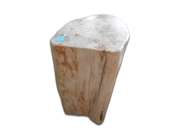 Petrified Wood Round Stool Full Polish#SRFP188