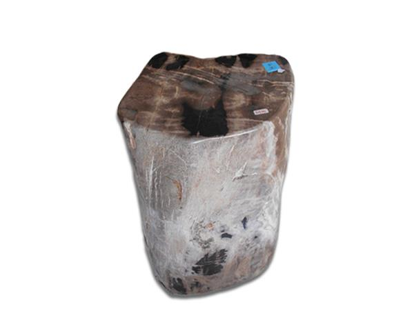 Petrified Wood Round Stool Full Polish#SRFP203
