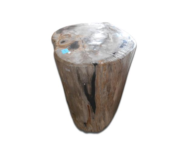 Petrified Wood Round Stool Full Polish#SRFP204