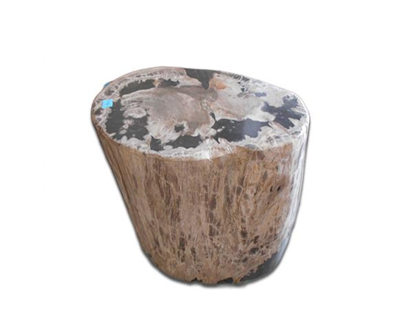 Petrified Wood Round Stool Full Polish#SRFP211