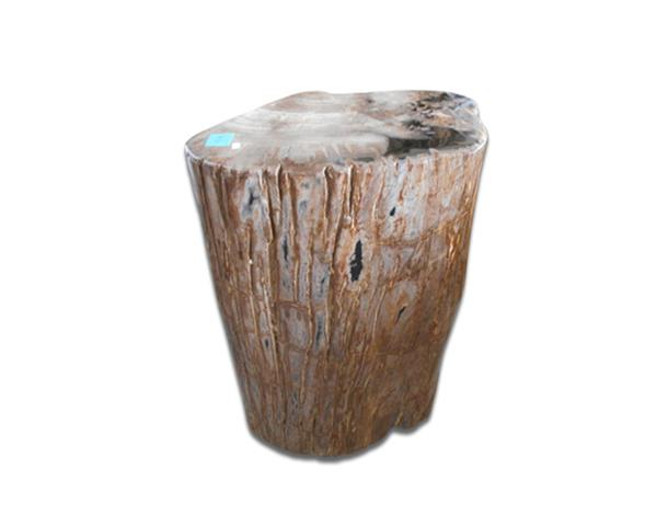 Petrified Wood Round Stool Full Polish#SRFP214