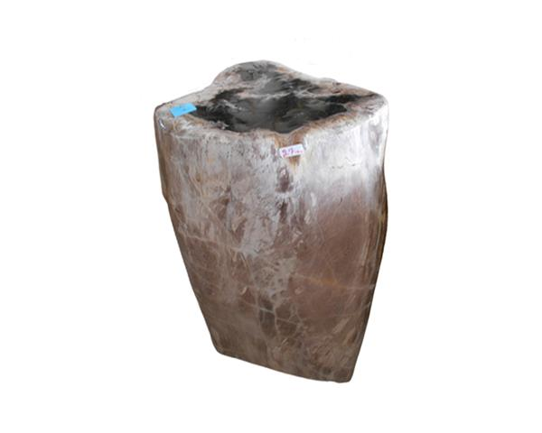 Petrified Wood Round Stool Full Polish#SRFP216
