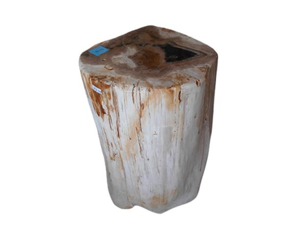 Petrified Wood Round Stool Full Polish#SRFP218