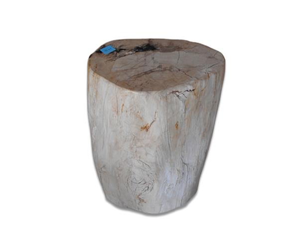 Petrified Wood Round Stool Full Polish#SRFP219