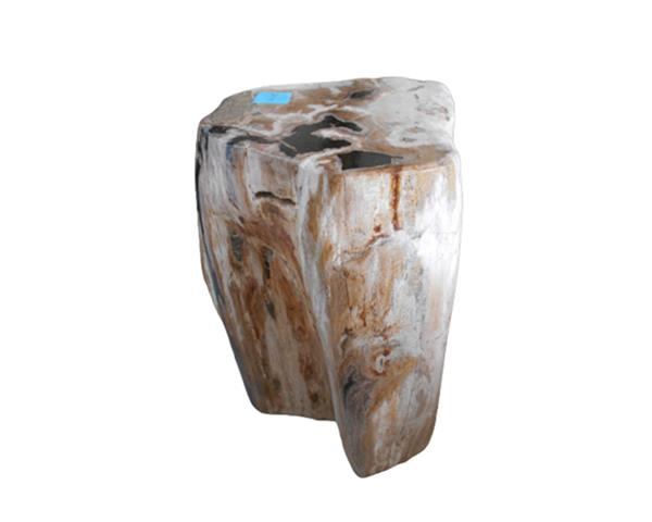 Petrified Wood Round Stool Full Polish#SRFP222