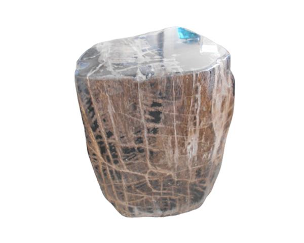 Petrified Wood Round Stool Full Polish#SRFP223