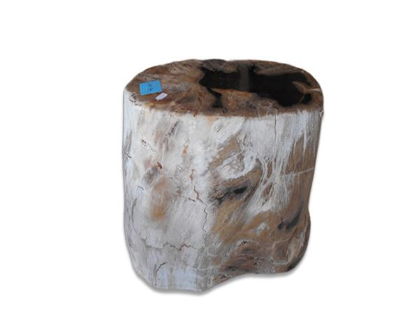 Petrified Wood Round Stool Full Polish#SRFP225