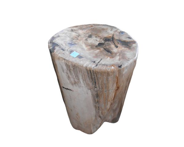Petrified Wood Round Stool Full Polish#SRFP226