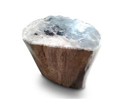 Petrified Wood Round Stool Full Polish#SRFP111