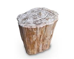 Petrified Wood Round Stool Full Polish#SRFP112