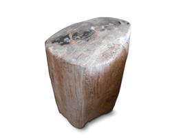 Petrified Wood Round Stool Full Polish#SRFP113