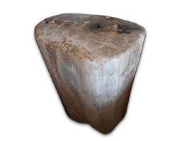 Petrified Wood Round Stool Full Polish#SRFP115