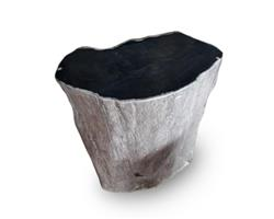 Petrified Wood Round Stool Full Polish#SRFP122