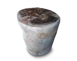 Petrified Wood Round Stool Full Polish#SRFP123