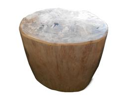 Petrified Wood Round Stool Full Polish#SRFP127