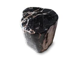 Petrified Wood Round Stool Full Polish#SRFP133