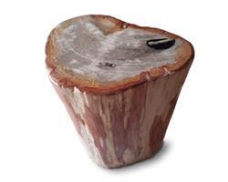 Petrified Wood Round Stool Full Polish#SRFP137
