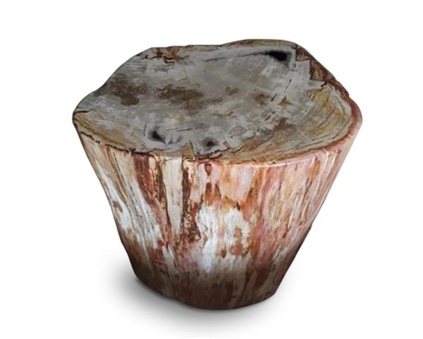 Petrified Wood Round Stool Full Polish#SRFP141