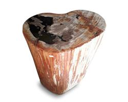 Petrified Wood Round Stool Full Polish#SRFP143