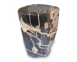 Petrified Wood Round Stool Full Polish#SRFP145