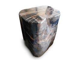 Petrified Wood Round Stool Full Polish#SRFP148