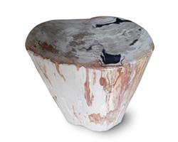 Petrified Wood Round Stool Full Polish#SRFP149